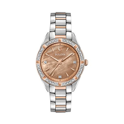 Bulova Women's Sutton Diamond Two Tone Stainless Steel Watch - 98R264