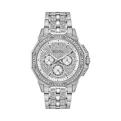 Bulova Men's Octava Crystal Stainless Steel Watch - 96C134