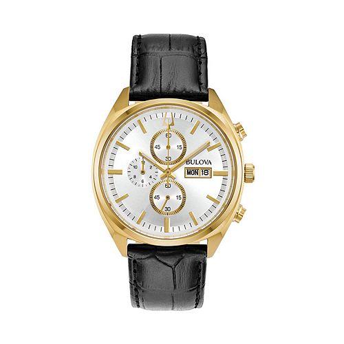 Bulova Men's Surveyor Leather Chronograph Watch - 97C108