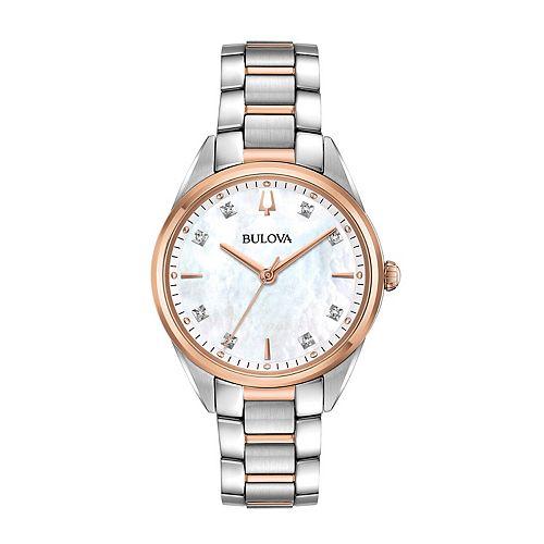Bulova Women's Sutton Diamond Two Tone Stainless Steel Watch - 98P183