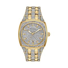 Bulova Men's Phantom Crystal Pave Stainless Steel Watch - 98B323