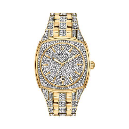 Bulova Men's Phantom Crystal Pave Stainless Steel Watch - 98B323