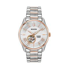 Bulova Men's Wilton Two Tone Stainless Steel Automatic Watch - 98A213