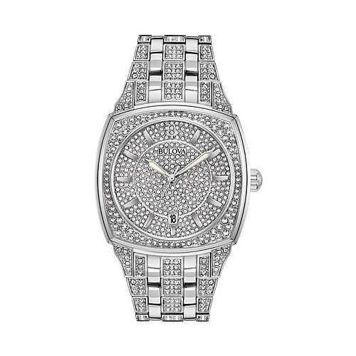 Bulova Men's Phantom Crystal Pave Stainless Steel Watch - 96B296