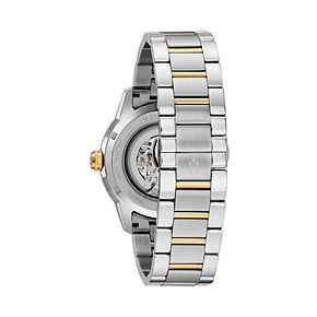 Bulova Men's Sutton Two Tone Stainless Steel Automatic Skeleton Watch - 97A214