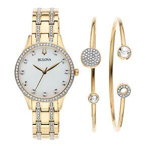 Bulova Women's Crystal Watch & Bracelet Set - 98X119