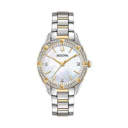 Bulova Women's Sutton Diamond Stainless Steel Watch - 98R263