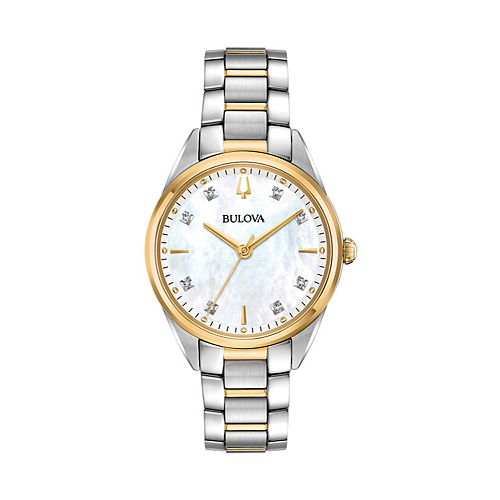 Bulova Women's Sutton Diamond Two Tone Stainless Steel Watch - 98P184