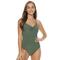 Lace-Up Side One-Piece Swimsuit