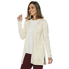 Women's Dana Buchman Scroll Pontelle Open-Front Cardigan