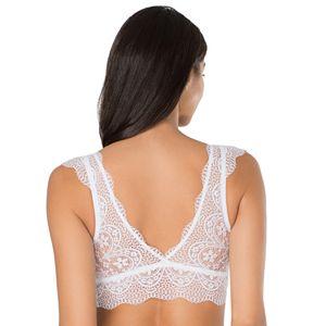 SO® Bras: Lace Cap-Sleeve Bralette