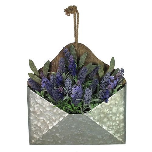 SONOMA Goods for Life™ Metal Envelope Artificial Lavender Wall Decor
