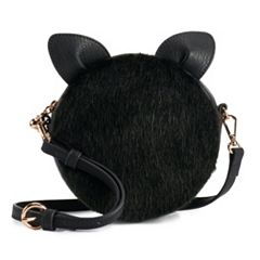 LC Lauren Conrad Petit Faux-Fur Cat Crossbody Bag