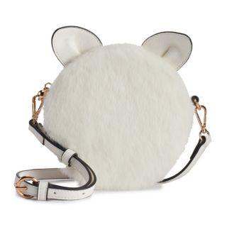LC Lauren Conrad Petit Faux-Fur Cat Crossbody Bag