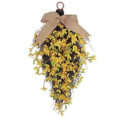 SONOMA Goods for Life™ Artificial Forsythia Teardrop Wall Decor