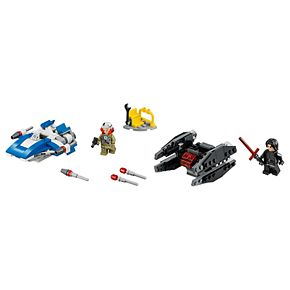 LEGO Star Wars A-Wing vs. TIE Silencer Microfighters Set 75196