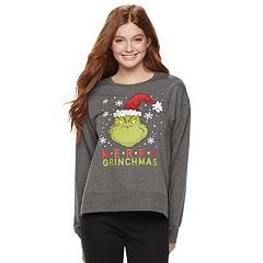 Juniors' The Grinch 'Merry Grinchmas' Graphic Sweatshirt