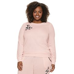 Plus Size Gloria Vanderbilt Embroidered Crewneck Pajama Tee