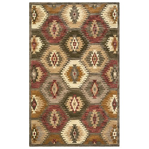 Rizzy Home Ada Southwest Collection Geometric Rug