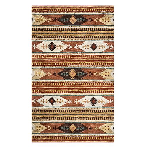 Rizzy Home Avianna Southwest Collection Geometric Rug