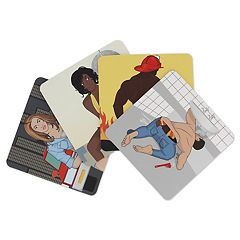 NPW Bottoms Up Drink Coasters