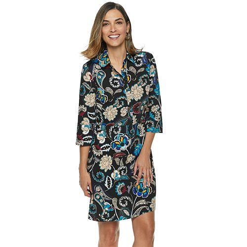 Women's Dana Buchman Hidden Placket Shirt Dress