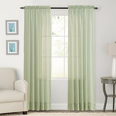 SONOMA Goods for Life™ 2-pack Sheer Crushed Voile Window Curtain
