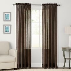 63 Inches Brown Rod Pocket Curtains Drapes Window Treatments