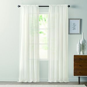 Sonoma Goods For Life? 2-pack Sheer Crushed Voile Window Curtain