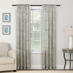 SONOMA Goods for Life™ 2-pack Sheer Crushed Voile Misty Floral Print Window Curtain
