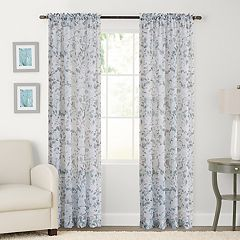 SONOMA Goods for Life™ 2-pack Sheer Crushed Voile Gardener Floral Print Window Curtain