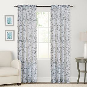 SONOMA Goods for Life? 2-pack Sheer Crushed Voile Gardener Floral Print Window Curtain