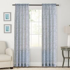 SONOMA Goods for Life™ 2-pack Sheer Crush Voile Global Paisley Window Curtain