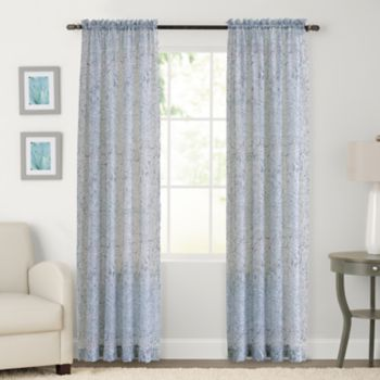 SONOMA Goods for Life? 2-pack Sheer Crush Voile Global Paisley Window Curtain