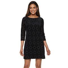 9df1090379e Petite Jessica Howard Long Sleeve Shift Dress
