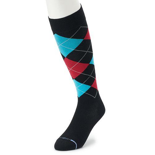 Men's Dr. Motion Argyle Compression Over-The-Calf Socks