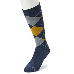 Men's Dr. Motion Argyle Compression Over-The-Calf Socks