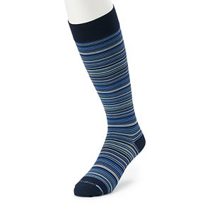Men's Dr. Motion Striped Compression Over-The-Calf Socks