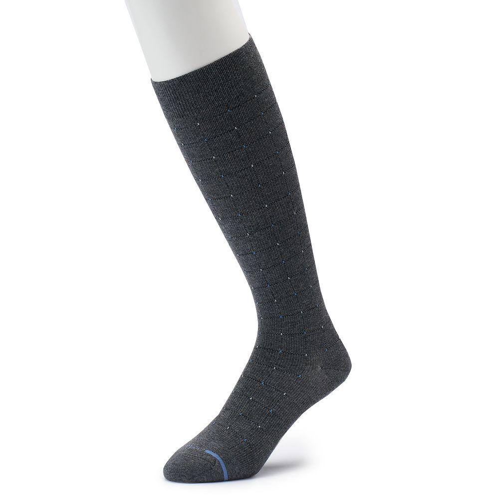 Men's Dr. Motion Pindot Compression Over-The-Calf Socks