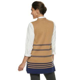 Women's Dana Buchman Striped Long Sweater Vest