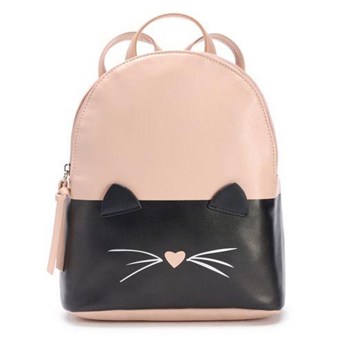 T-Shirt & Jeans Two Tone Cat Mini Backpack