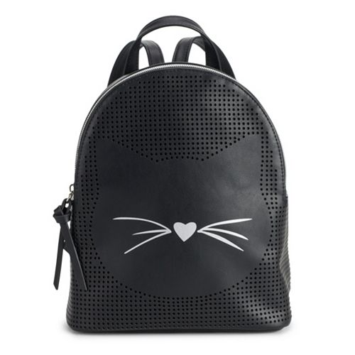 T-Shirt & Jeans Perforated Cat Mini Backpack