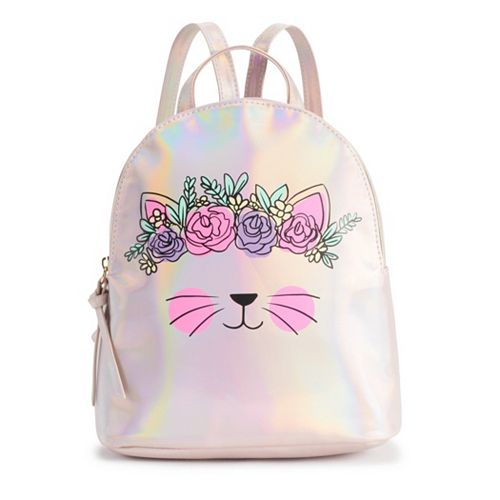 T-Shirt & Jeans Floral Crown Cat Backpack