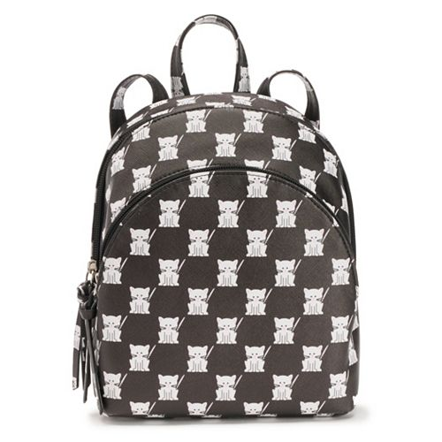 T-Shirt & Jeans Checkered Cat Backpack