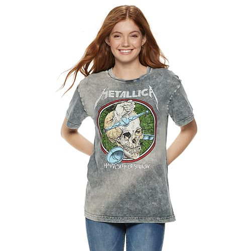 Juniors' Metallica Tie-Dye Graphic Tee