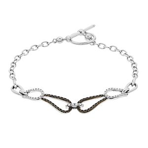 Simply Vera Vera Wang Sterling Silver 1/3 Carat T.W. Black & White Diamond Chain Bracelet