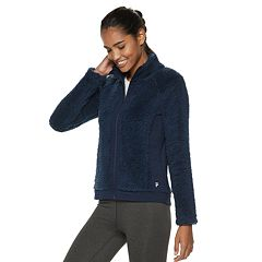 Women's FILA SPORT® Sherpa Raglan Full Zip Jacket