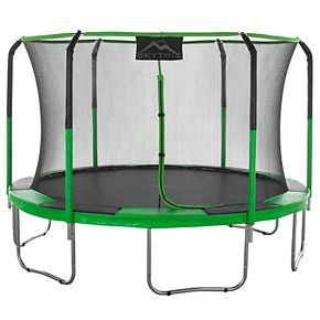 """Upper Bounce """"SKYTRIC"""" 11' Trampoline with Top Ring Enclosure System"""