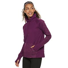 Women's FILA SPORT® Boxy Funnelneck Fleece Top