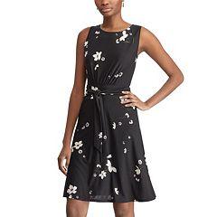 Petite Floral Fit & Flare Dress